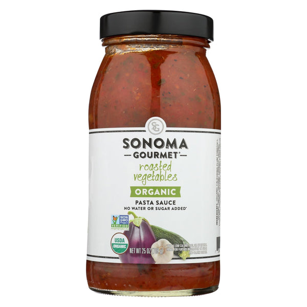 Sonoma Gourmet Organic Pasta Sauce - Roasted Vegetables - Case of 6 - 25 oz.