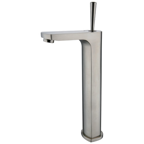 YP9921VF-BN Brushed Nickel Finish Metal Single Handle Vessel Faucet Brushed Nickel Single Handle Lavatory Faucet