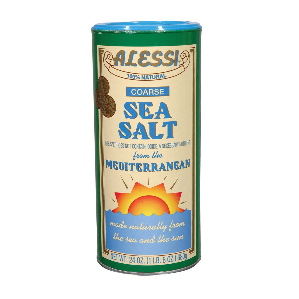 Alessi - Mediterranean Sea Salt - Coarse - Case of 6 - 24 oz.