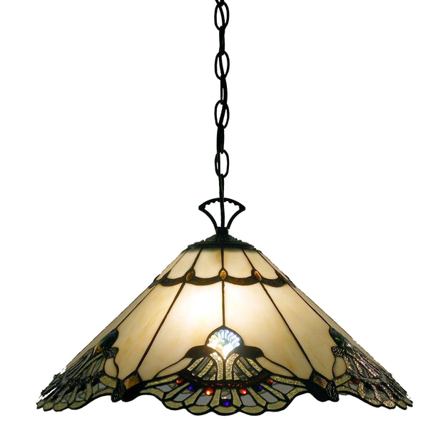 Home Roots - Tiffany-style Warehouse of Tiffany Courtesan Hanging Lamp 293120