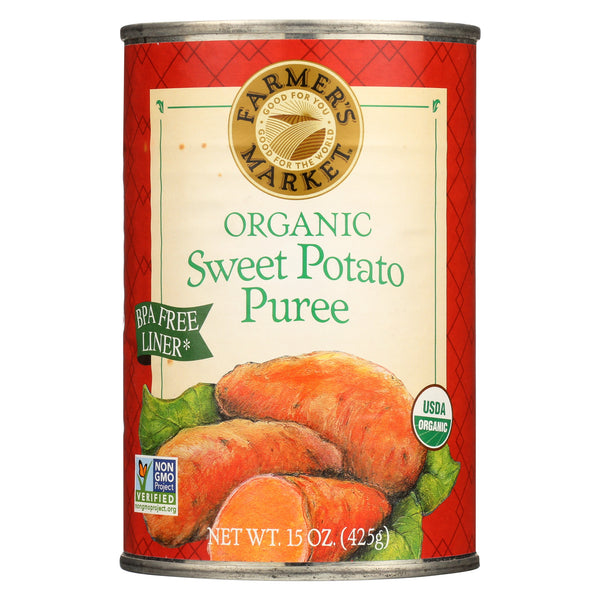 Farmer's Market 100% Organic Sweet Potato Puree - Canned - 15 oz
