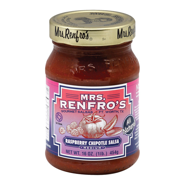 Mrs. Renfro's Chipotle Salsa - Raspberry - Case of 6 - 16 oz.