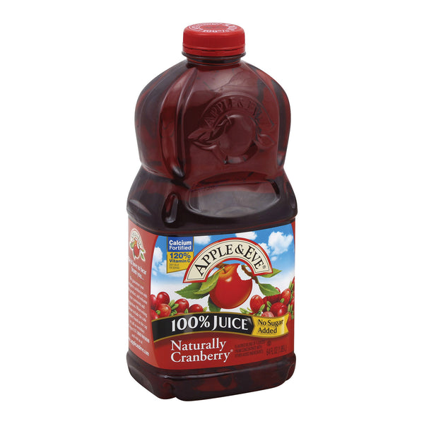 Apple and Eve 100 Percent Juice Naturally Cranberry Juice - Case of 8 - 64 fl oz.