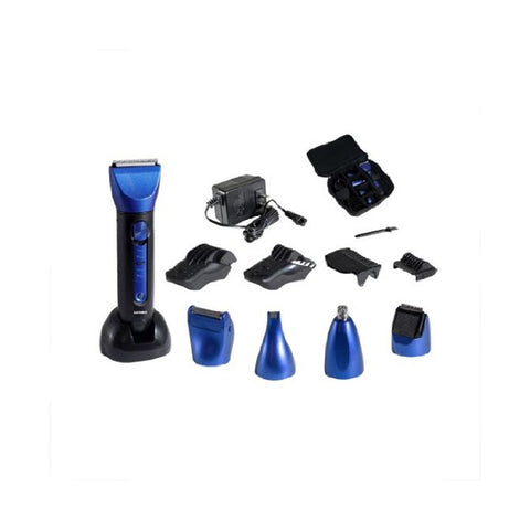 Optimus  15 Piece Wet/Dry Multi-Use Clipper and Trimmer, Blue/Black by
