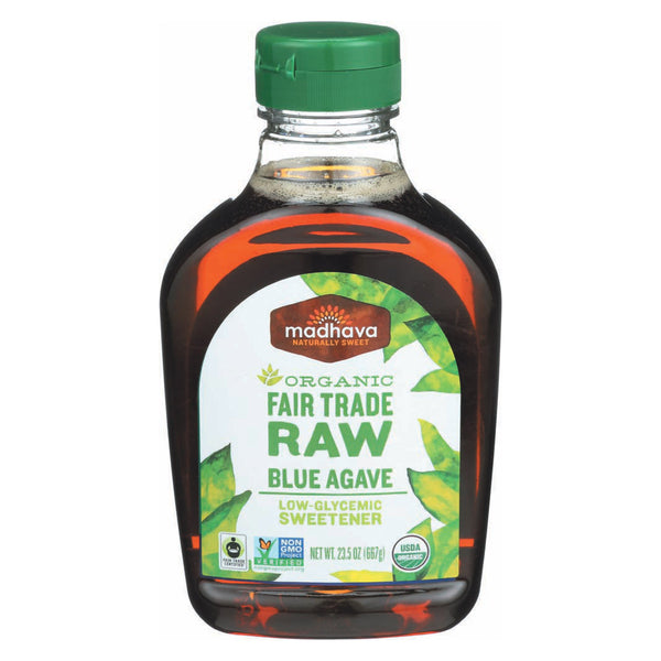 Madhava Honey Fair Trade Raw Agave - Case of 6 - 23.5 oz.