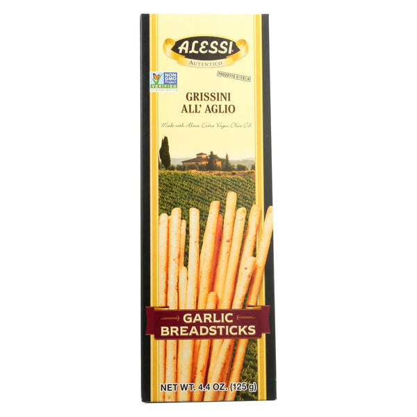 Alessi - Breadsticks - Garlic - Case of 12 - 4.4 oz.