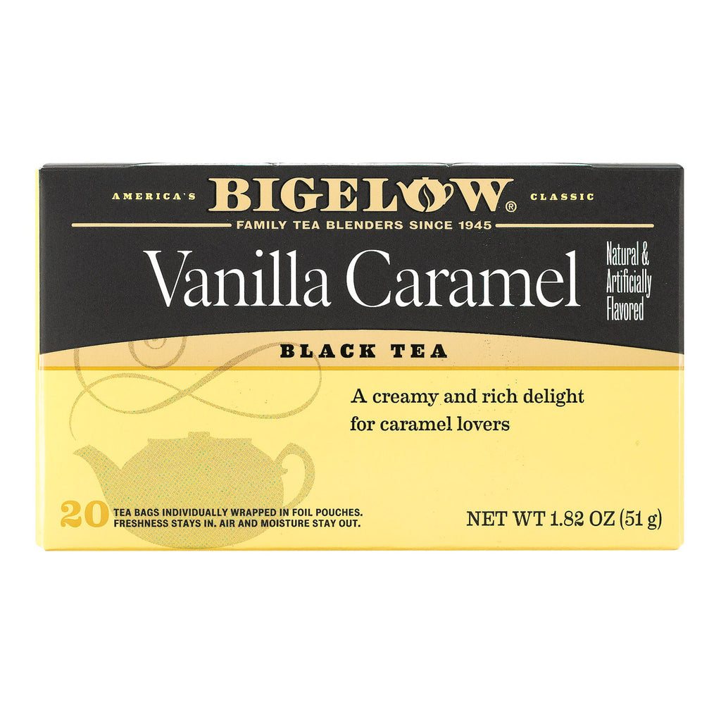 Bigelow Tea Vanilla Caramel Black Tea - Case of 6 - 20 Bags