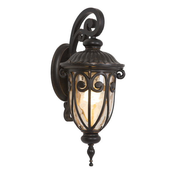FL519SDORB Oil-Rubbed Bronze  Steel/Gold Stone Viviana Collection Seven-Inch Fluorescent Hanging Viviana Collection