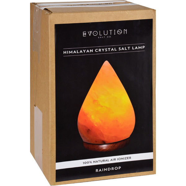 Evolution Salt Crystal Salt Lamp - Raindrop - 1 Count