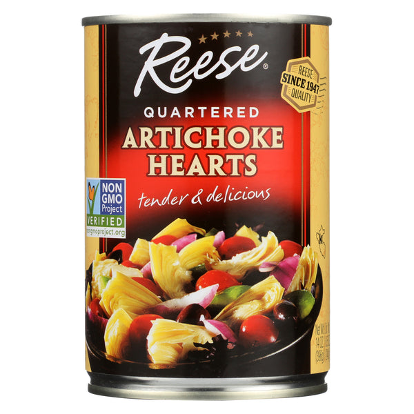 Reese Artichoke Hearts - Quartered - Case of 12 - 14 oz.