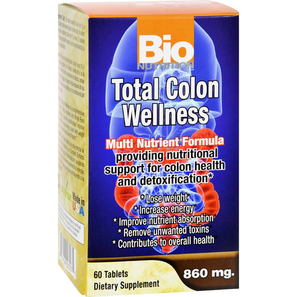 Bio Nutrition Total Colon Wellness - 60 Tablets