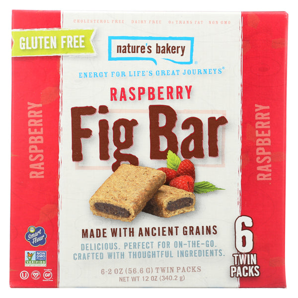 Nature's Bakery Gluten Free Fig Bar - Raspberry - Case of 6 - 2 oz.