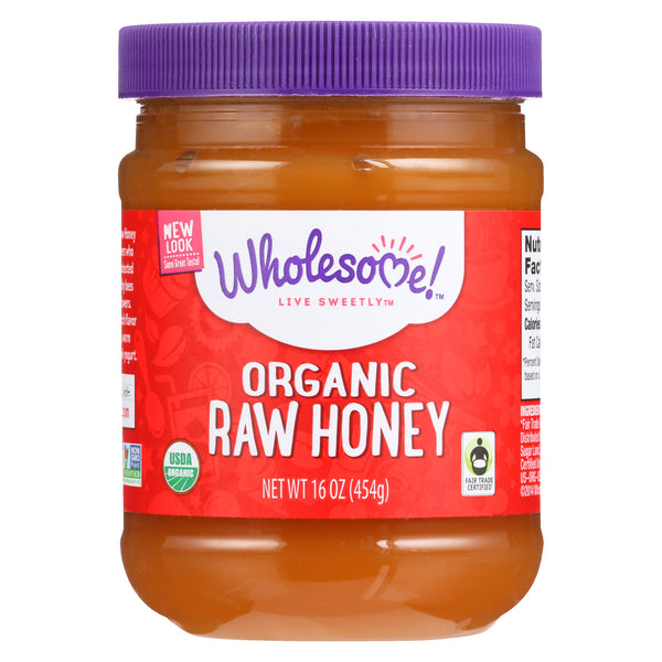 Wholesome Sweeteners Organic Raw Honey - Liquid Sweetener - Case of 6 - 16 oz.