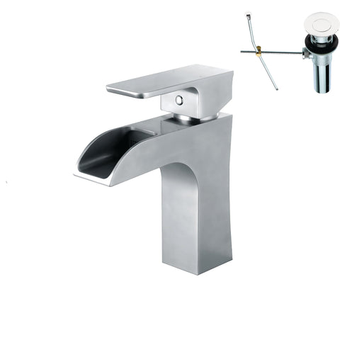 YPH2494VF-PCWD Polished Chrome Finish Metal Single Handle Lavatory Faucet Polished Chrome Single Handle Lavatory Faucet