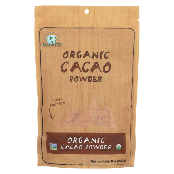 Natierra Organic Cacao Powder - Case of 6 - 8 oz