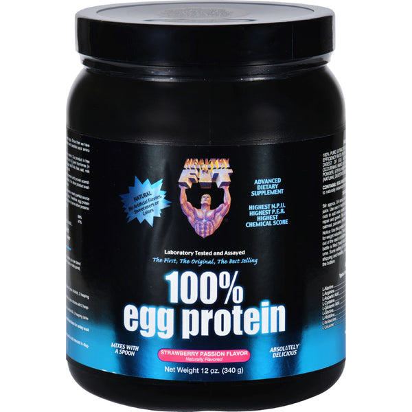 Healthy 'N Fit 100 Percent Egg Protein - Strawberry Passion - 12 oz