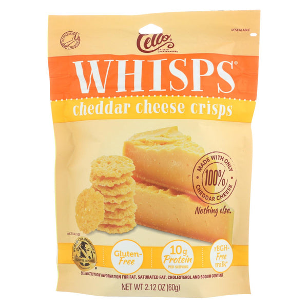 Cello Cheddar Cheese Whisps  - Case of 12 - 2.12 OZ