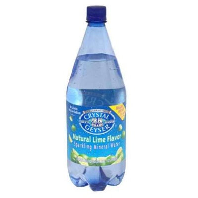 Crystal Geyser Lime Mineral Water  - Case of 12 - 42.25OZ