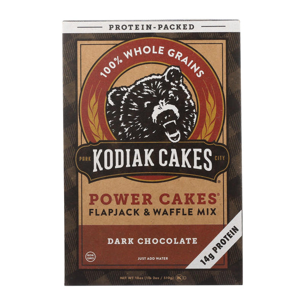 Kodiak Cakes Power Cakes Dark Chocolate Flapjack And Waffle Mix  - Case of 6 - 18 OZ