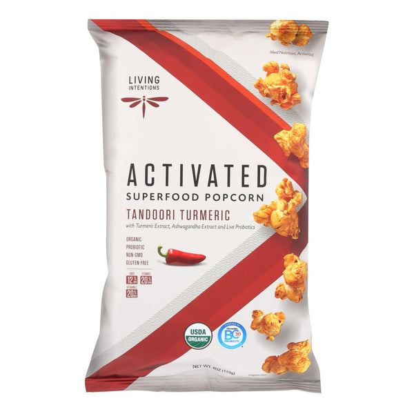 Living Intentions Activated Superfood Popcorn  - Case of 12 - 4 OZ