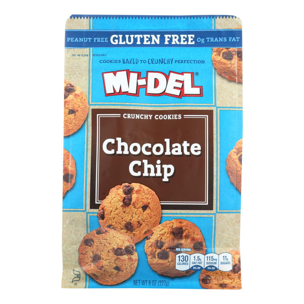 Mi-Del's Gluten-Free Chocolate Chip Crunchy Cookies  - Case of 8 - 8 OZ