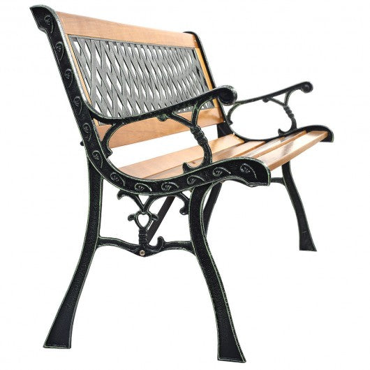 Outdoor Cast Iron Patio Bench - OP70533
