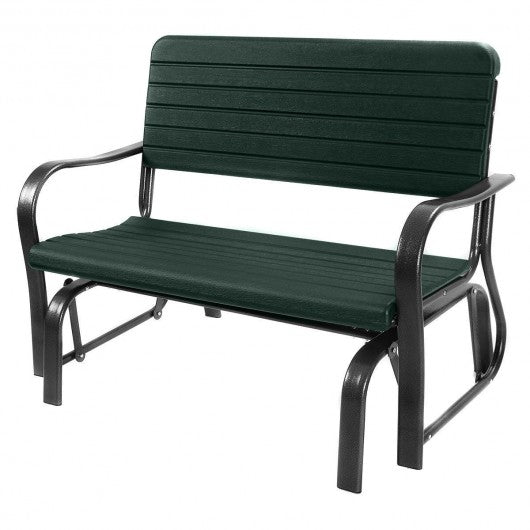 Outdoor Patio Steel Swing Bench Loveseat - OP2970