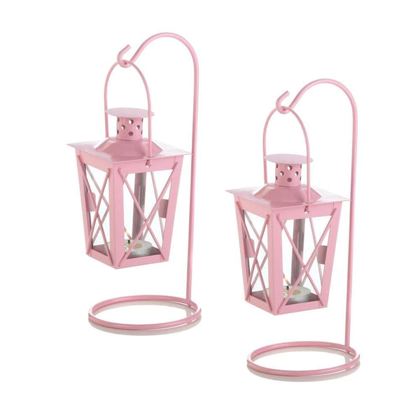 Pink Railroad Hanging Lanterns