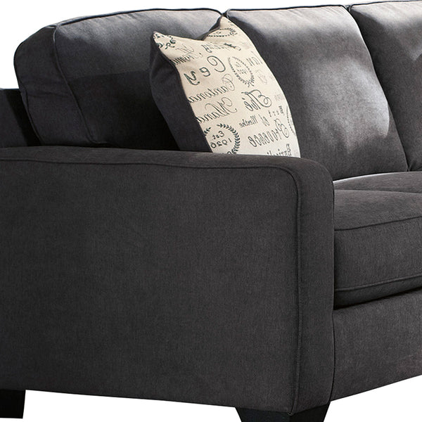 Signature Design by Ashley Alenya 3-Piece Left Side Facing Sofa Sectional in Charcoal Microfiber