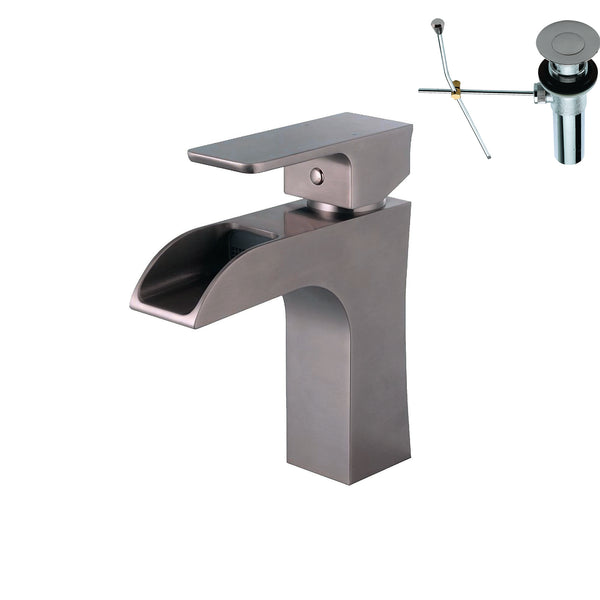 YPH2494VF-BNWD Brushed Nickel Finish Metal Single Handle lavatory Faucet Brushed Nickle Single Handle Lavatory Faucet