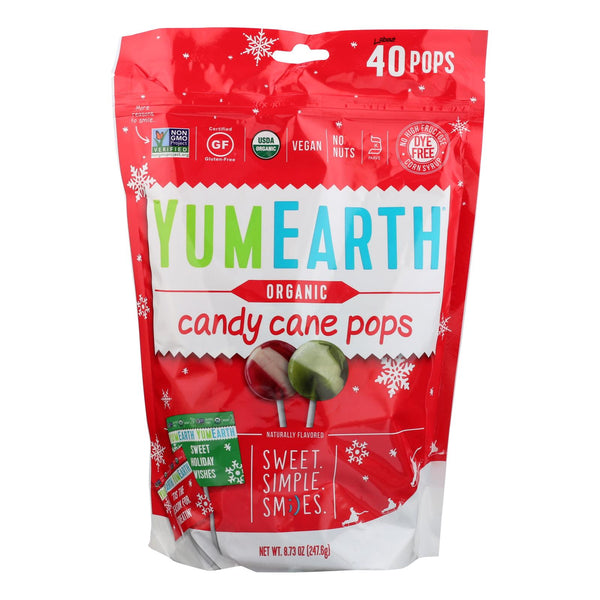 Yumearth Organics - Organic Pops - Candy Cane - CS of 18-8.50 OZ