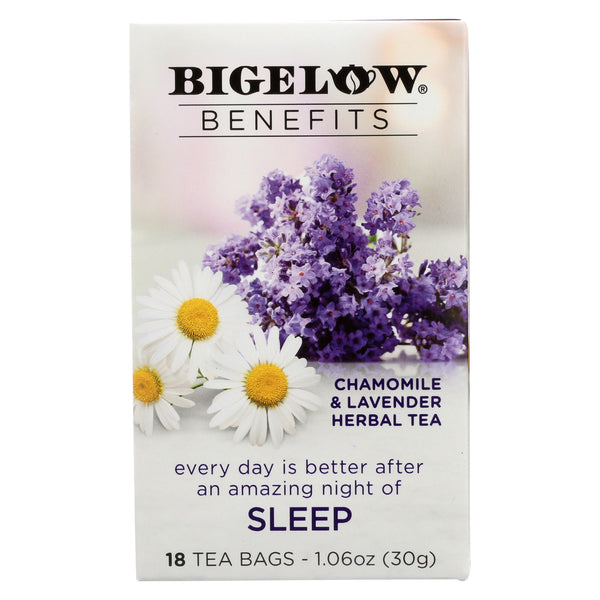 Bigelow Tea Tea - Chamomile Lavender - Sleep - Case of 6 - 18 BAG