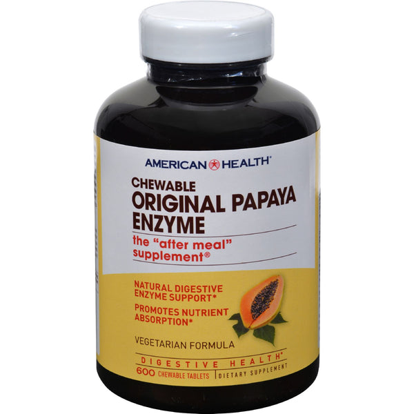 American Health Original Papaya Enzyme Chewable - 600 Tablets