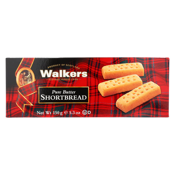 Walkers Shortbread - Pure Butter Fingers - Case of 12 - 5.3 oz.