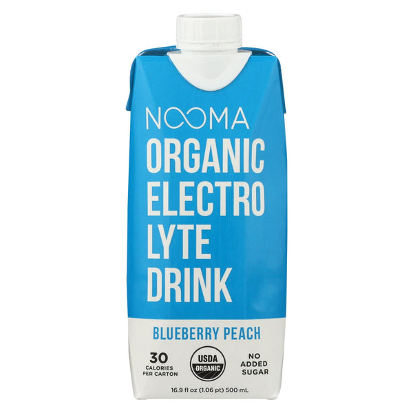 Nooma Electrolite Drink - Organic - Blueberry Peach - Case of 12 - 16.9 fl oz