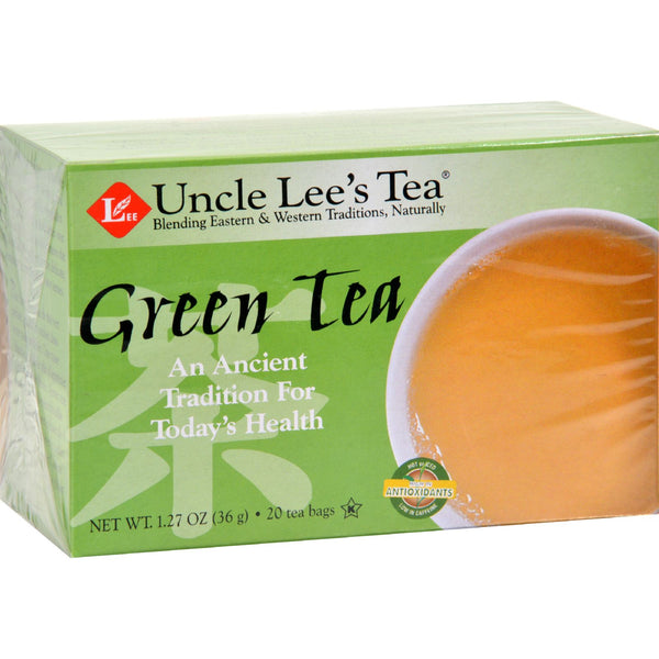 Uncle Lee's Tea Green Tea - Case of 6 - 20 Bags