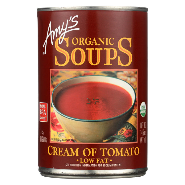 Amy's - Organic Low Fat Cream of Tomato Soup - Case of 12 - 14.5 oz