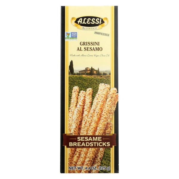 Alessi - Breadsticks - Sesame - Case of 12 - 4.4 oz.