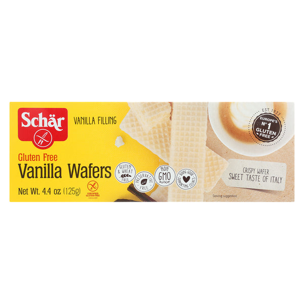 Schar Vanilla Wafers Gluten Free - Case of 12 - 4.4 oz.