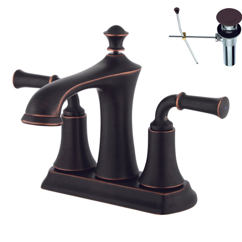 YPH18280-ORBWD Oil Rubbed Bronze Finish Metal 2 Handle 4 center set Lavatory Faucet Two Handle 4 inch center set Lavatory Faucet