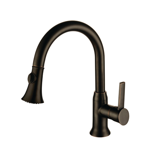 YP9314-ARB  Oil Rubbed Bronze Finish Metal Kitchen Faucet ARB Finish Single Handle Pull out Kitchen Faucet