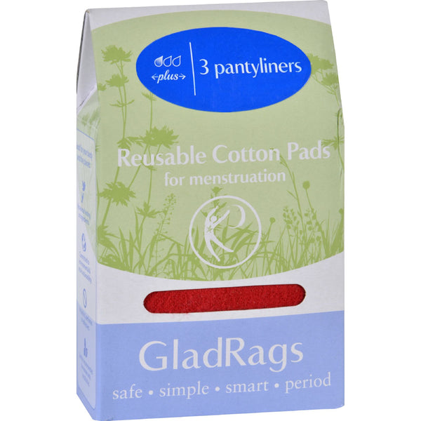 GladRags Pantyliner - Cotton - Color - 3 Pack