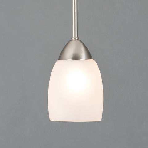 1261-1P-BN Brushed Nickel  Steel, Glass One Light Mini Pendant Mirror Lake Collection