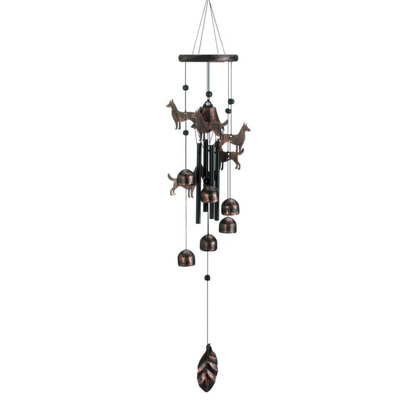 26'' Bronze Dogs Wind Chimes
