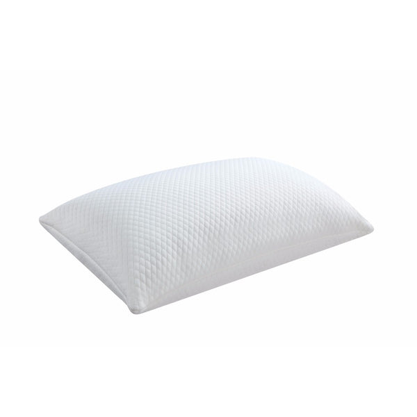 Queen Classic Memory Foam Pillow White BM158970 - Benzara