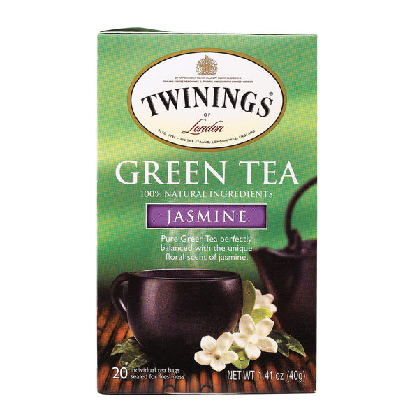 Twining's Tea Green Tea - Jasmine - Case of 6 - 20 Bags