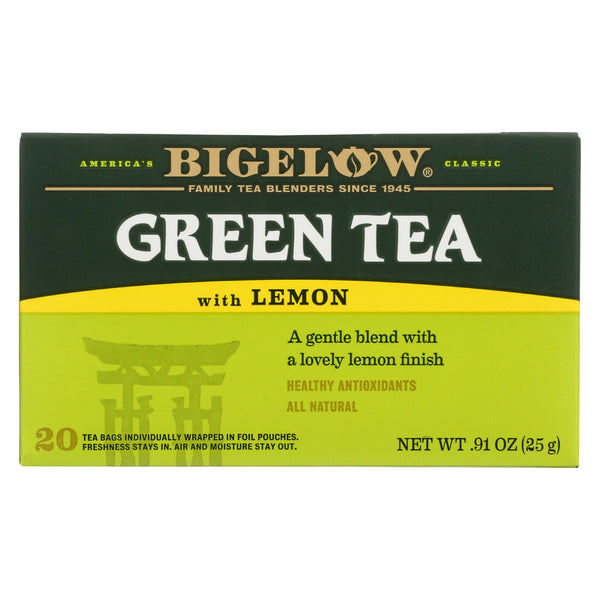 Bigelow Tea Green Tea - with Lemon - Case of 6 - 20 BAG