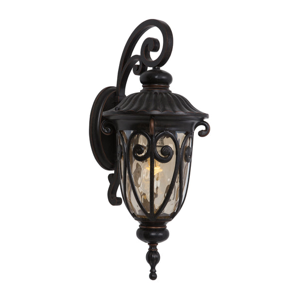 FL519MDORB Oil-Rubbed Bronze  Steel/Gold Stone Viviana Collection Nine-Inch Fluorescent Exterior Viviana Collection