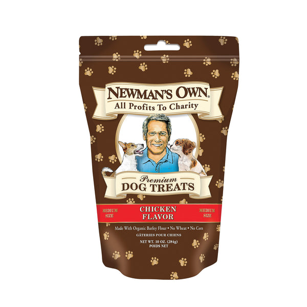 Newman's Own Organics Premium Dog Treats - Chicken - Case of 6 - 10 oz.