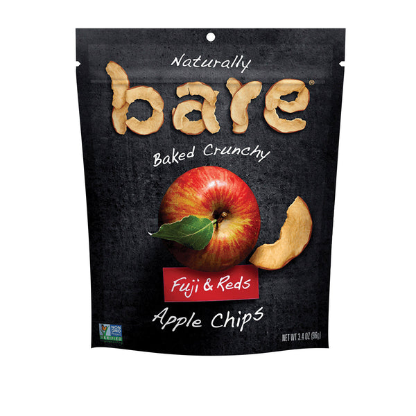 Bare Fruit Apple Chips - Fuji & Reds - Case of 12 - 3.4 oz